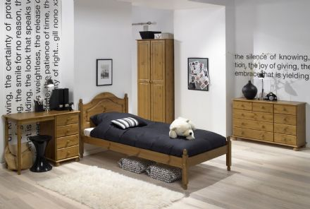 CARLTON 3FT LOW FOOT END BED PINE